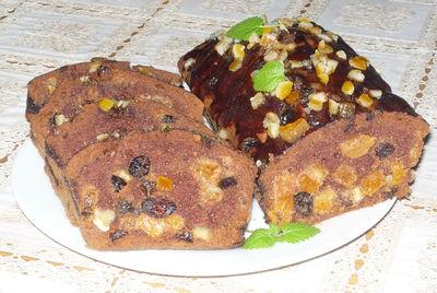 Kakaowy keks pełen bakalii