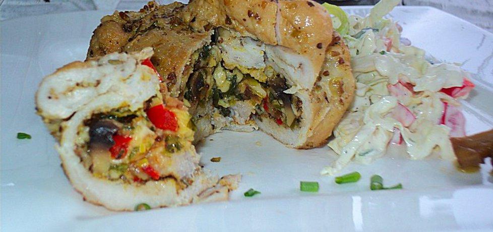 Sakiewki ze schabu z serem, papryką, pieczarkami (autor: anna133 ...