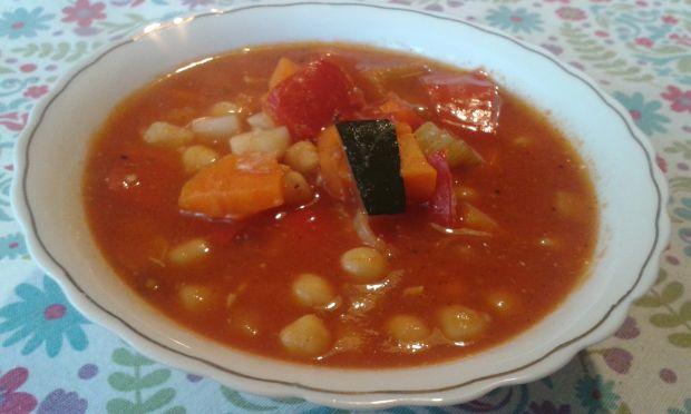 Przepis  pikantna zupa z cieciorką przepis