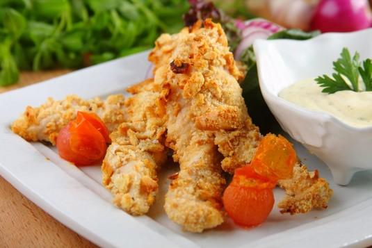 Kurczak w panierce z krakersów