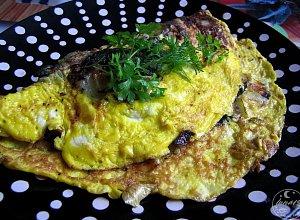 Omlet z grzybami  prosty przepis i składniki