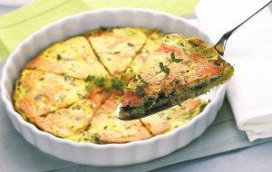 Tarta szpinakowo-łososiowa  prosty przepis i składniki