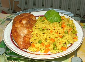 Żółty ryż z warzywami  prosty przepis i składniki