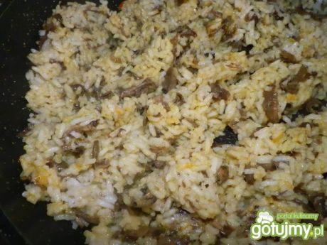 Przepis  ryż z pieczarkami do obiadu przepis