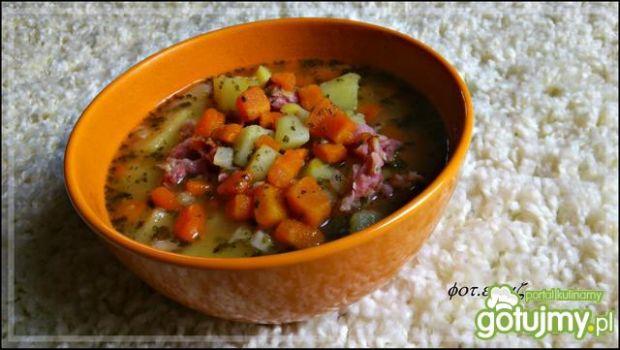 Przepis  zupa grochowa z nutką fasoli przepis