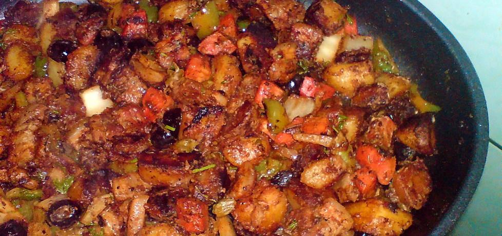 Warzywa z boczkiem na patelni (autor: pchelka79)