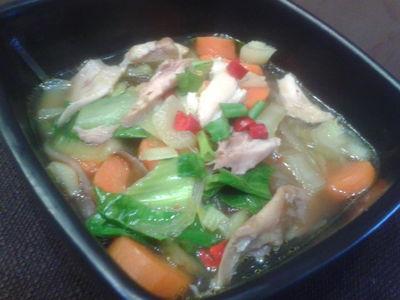 Chińska zupa z pak choi