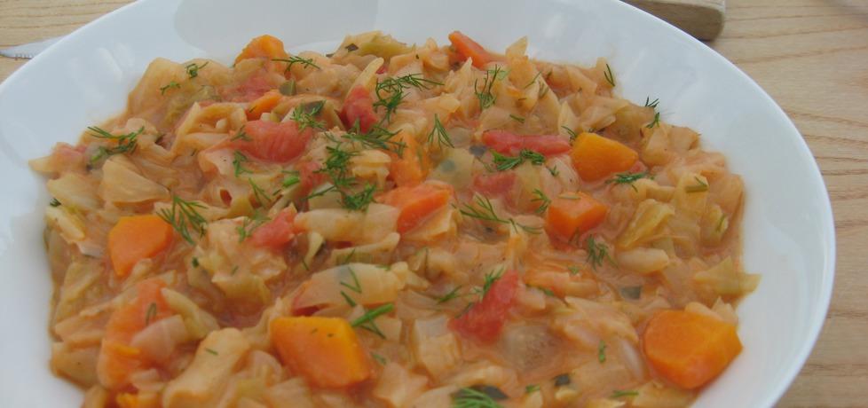 Młoda kapusta z pomidorami i koperkiem (autor: anemon ...