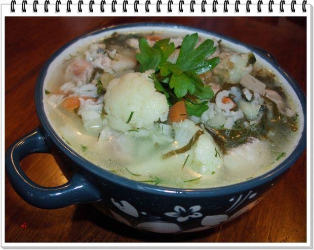 Przepis  zupa jarzynowa eli z kalafiorem i ryżem przepis