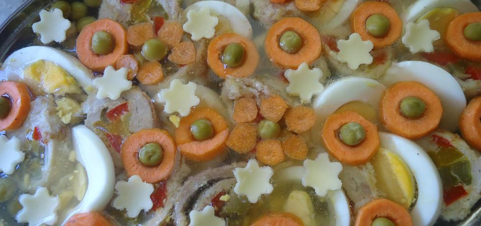 Roladki schabowe z warzywami w galarecie (autor: szczyptachili ...