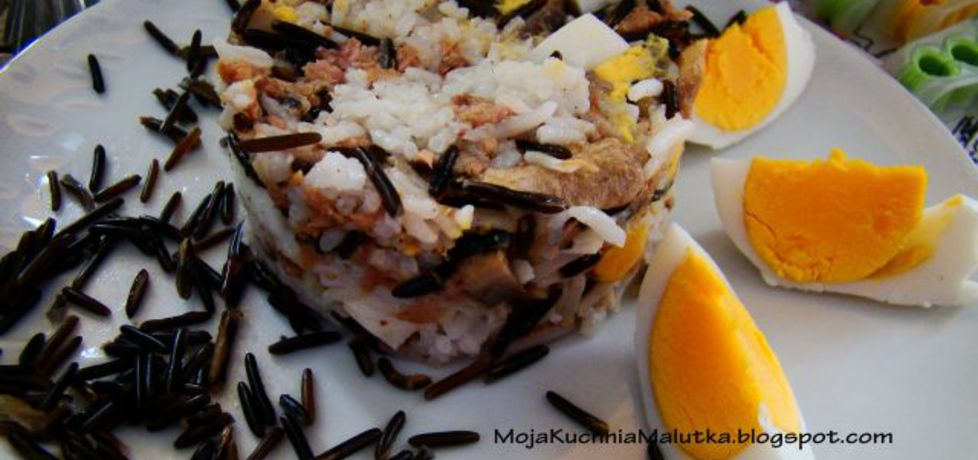 Sałatka ryżowa z tuńczykiem i pieczarkami (autor: iwa643 ...