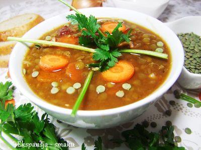 Słoneczna zupa z soczewicą