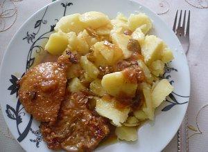 Schab w sosie śliwkowym  prosty przepis i składniki
