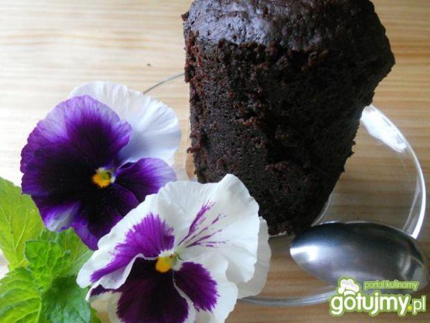 Przepis  babeczki czekoladowe z mikrofalówki przepis