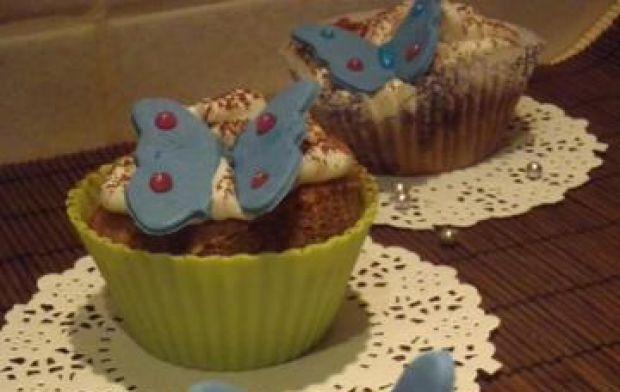Przepis  muffinki kawowe z motylkami przepis