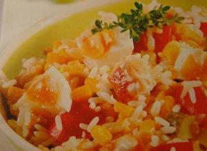 Sałatka ryżowa z kurczakiem  prosty przepis i składniki