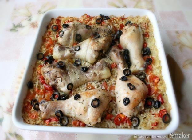 Kurczak na pierzynie z ryżu