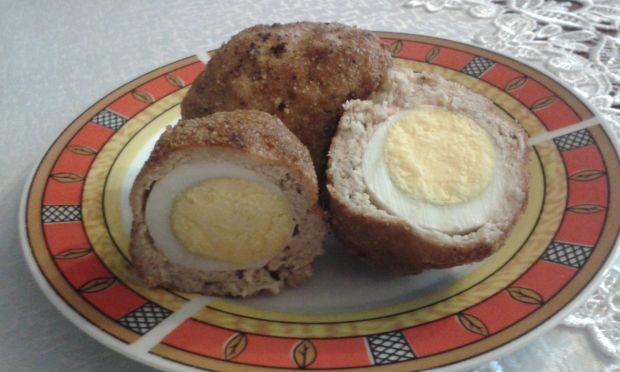 Przepis  jajka po szkocku z mięsem z łopatki przepis