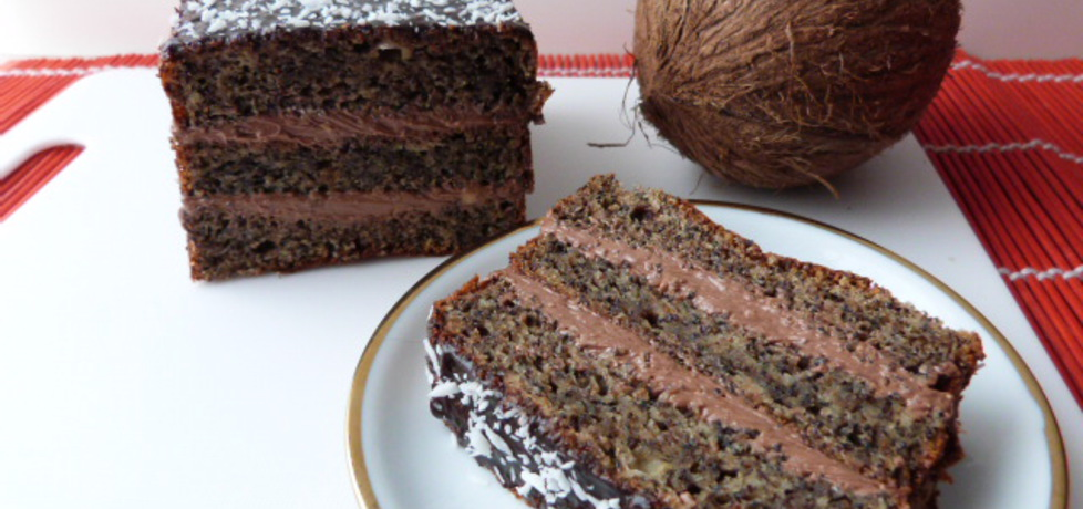 Biszkopt makowy z kokosową masą (autor: renatazet ...
