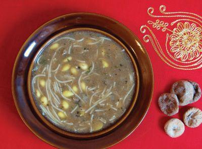 Marokańska zupa z migdałami