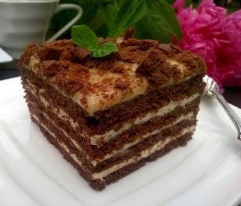 Przekładane ciasto chałwowe