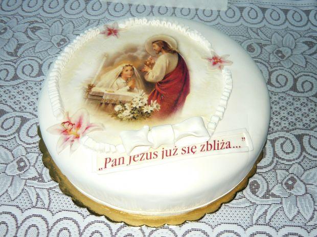 Przepis  tort na komunię św przepis
