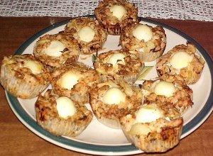 Miesne babeczki z przepiorczymi jajkami
