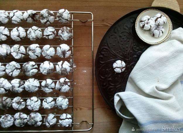 Chocolate crinkles, czyli popękane ciasteczka czekoladowe ...