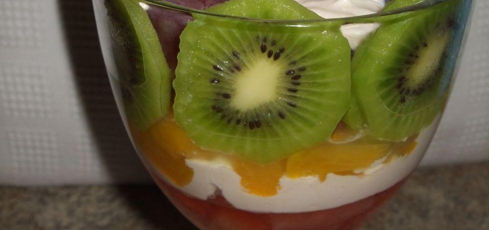 Deser z galaretką, owocami i bitą śmietaną (autor: olkaaa ...