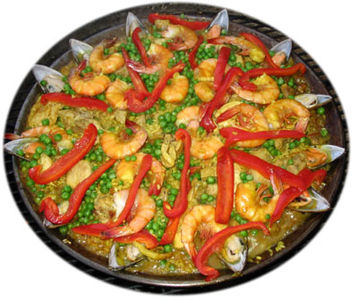 Paella z owocow morza