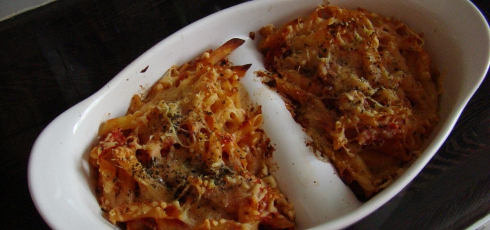 Makaronowa zapiekanka z pomidorami i bazylią (autor: kate500 ...