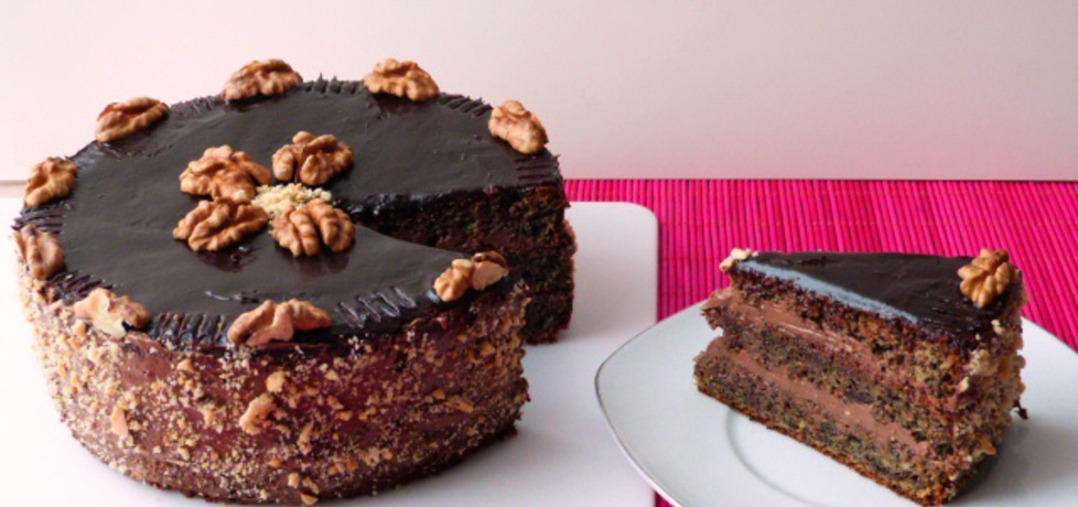 Tort makowy z orzechową masą (autor: renatazet)