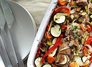 Zapiekanka z polędwiczki, warzyw i kaszy  przepis blogera