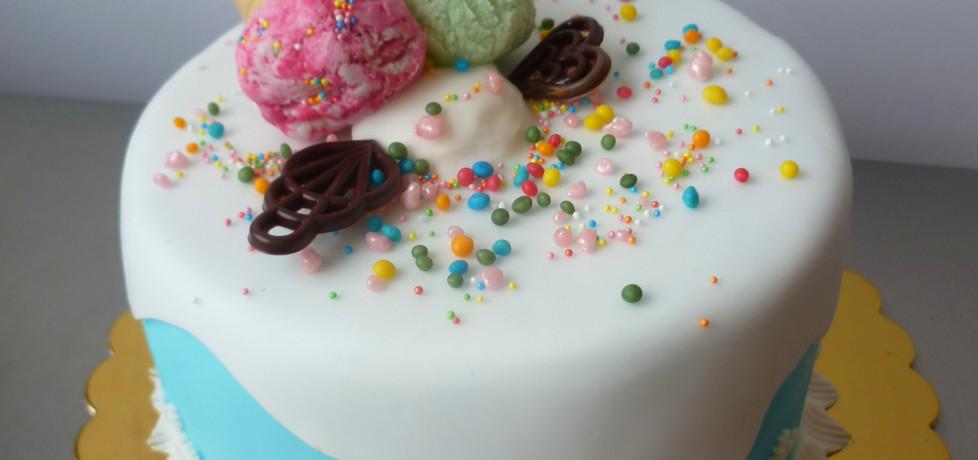 Tort topniejące lody (autor: marta-ryzek