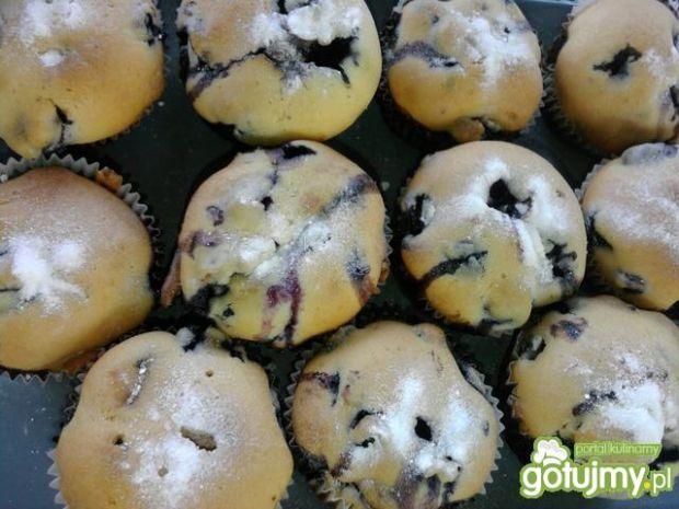 Przepis  muffiny z borówkami amerykańskimi przepis