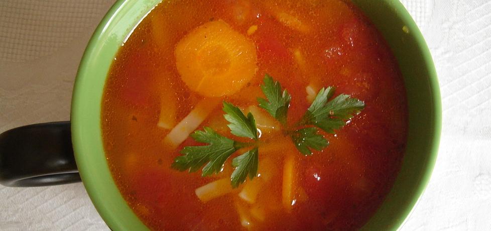 Włoska zupa pomidorowa z makaronem (autor: lidzia ...