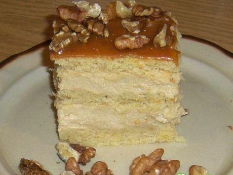 Przepis na ciasto krówka. na ciasto z kremem i orzechami