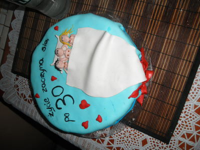 Wesoły tort urodzinowy dla męża