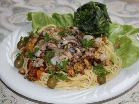 Przepis  spaghetti z owocami morza przepis