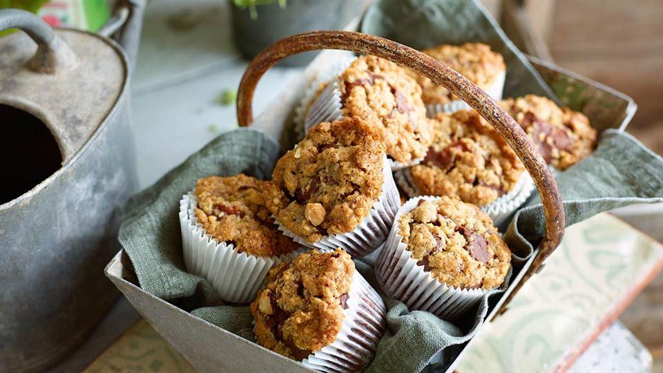 Przepis na muffiny czekoladowe z kruszoną orzechową