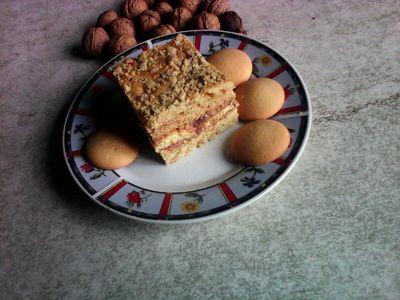Ciasto miodowe z masą czekoladową