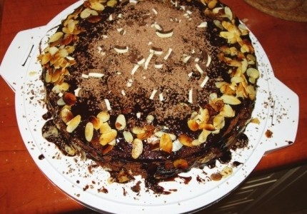Wielkanocny błyskawiczny tort kawowo-czekoladowy