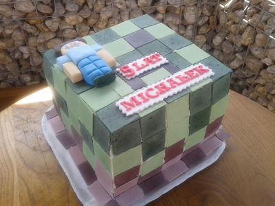 Tort urodzinowy ''minecraft''