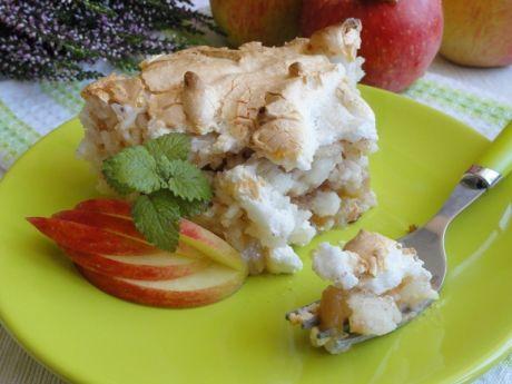 Przepis  ryż zapiekany z jabłkami i bezą przepis