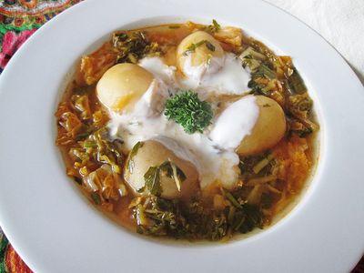 Zupa z młodej kapusty włoskiej