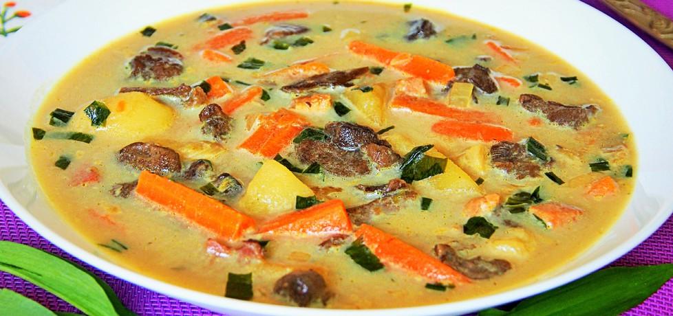 Zupa grzybowa z czosnkiem niedźwiedzim (autor: futka ...