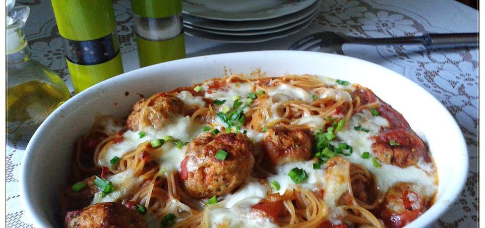 Zapiekane spaghetti z klopsikami (autor: monikat83 ...