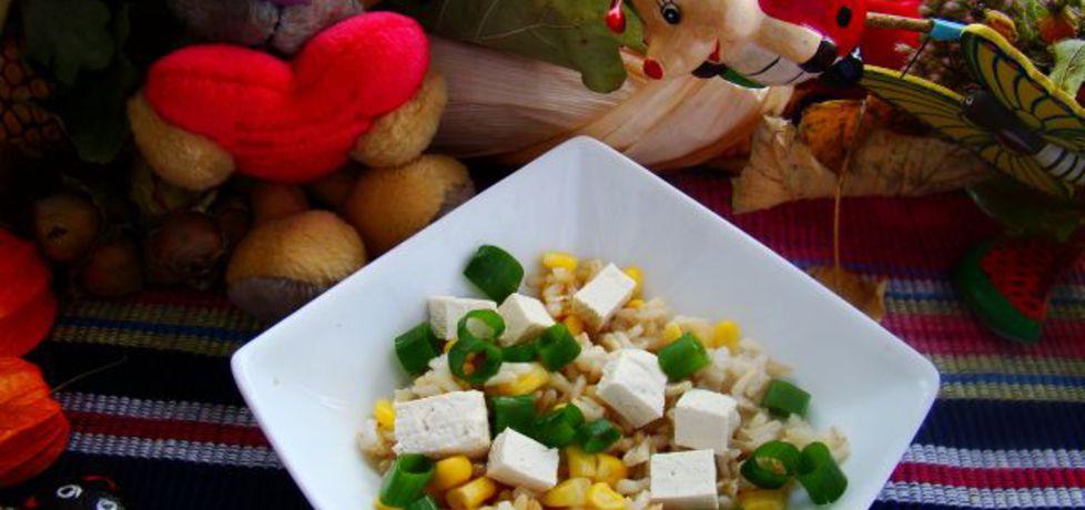 Sałatka z brązowego ryżu i z tofu (autor: iwa643)