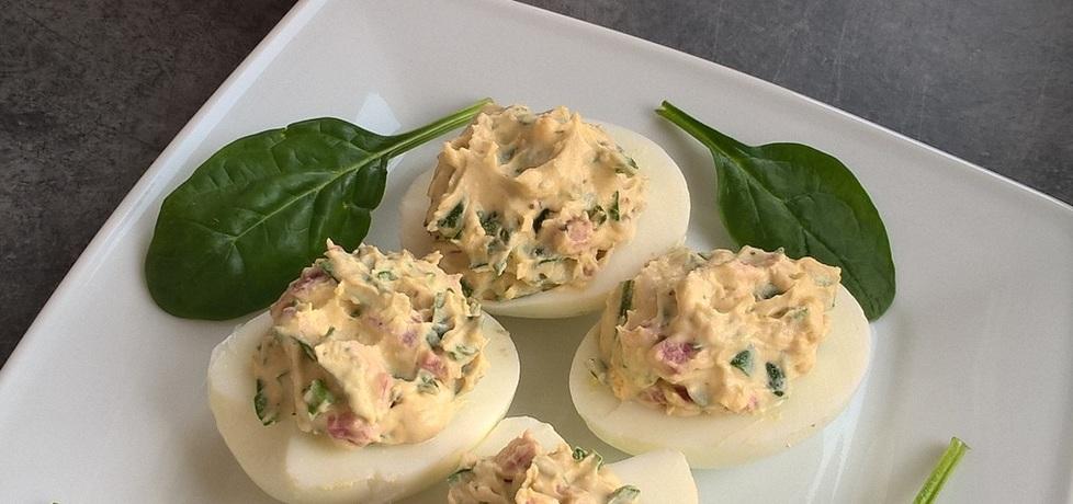 Jajka faszerowane szpinakiem i salami (autor: ania321 ...