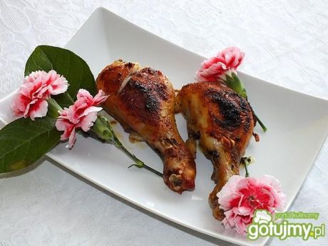Przepis  nóżki kurczaka faszerowane szpinakiem przepis